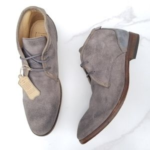 H by Hudson Chukka Boots Gray Washed Suede NEW